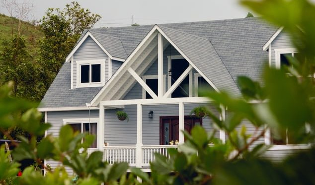 A home with beautiful roofing